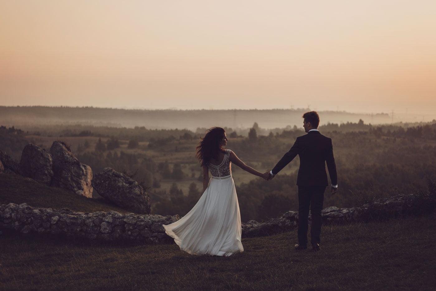 sesja ślubna na zamku w Olsztynie