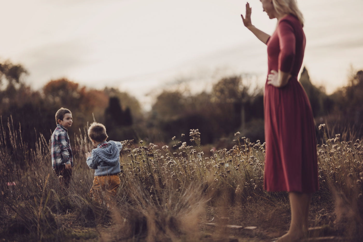 Jesienna rodzinna sesja